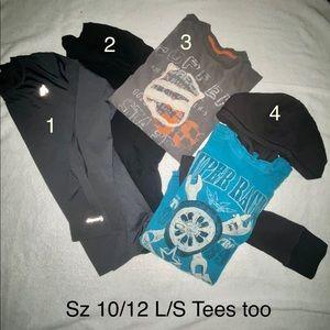 **Sale** Lot of 4 shirts Size 10/12